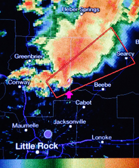 2014 arkansas tornado on radar