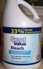 bleach from Walmart