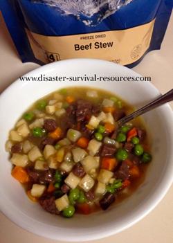 freeze dried beef stew