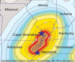 New Madrid Seismic Hazard Map