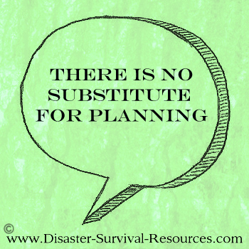 No Substitute for Planning Quote