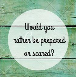 Prepared or Scared graphic