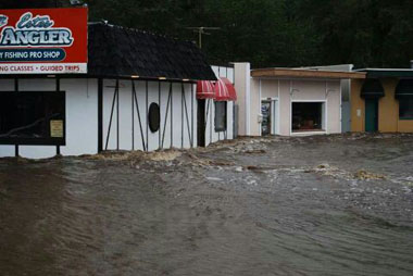 Quaint Stores of Estes Park Flooded