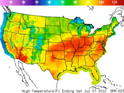 US Heat  Wave Map